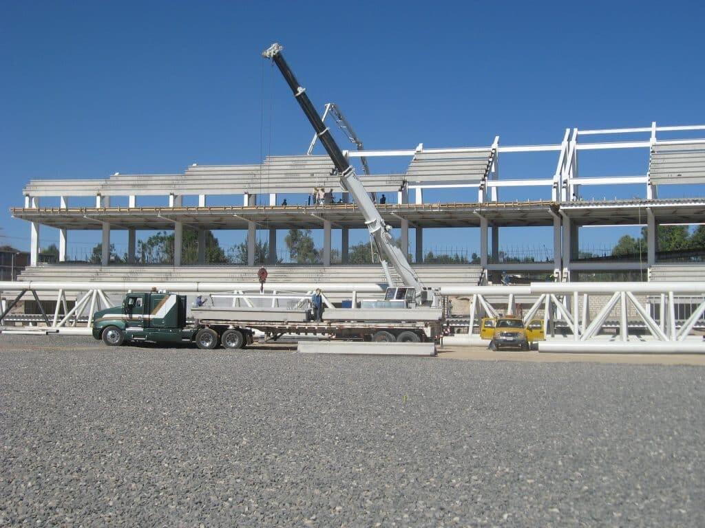instalación de gradas prefabricadas