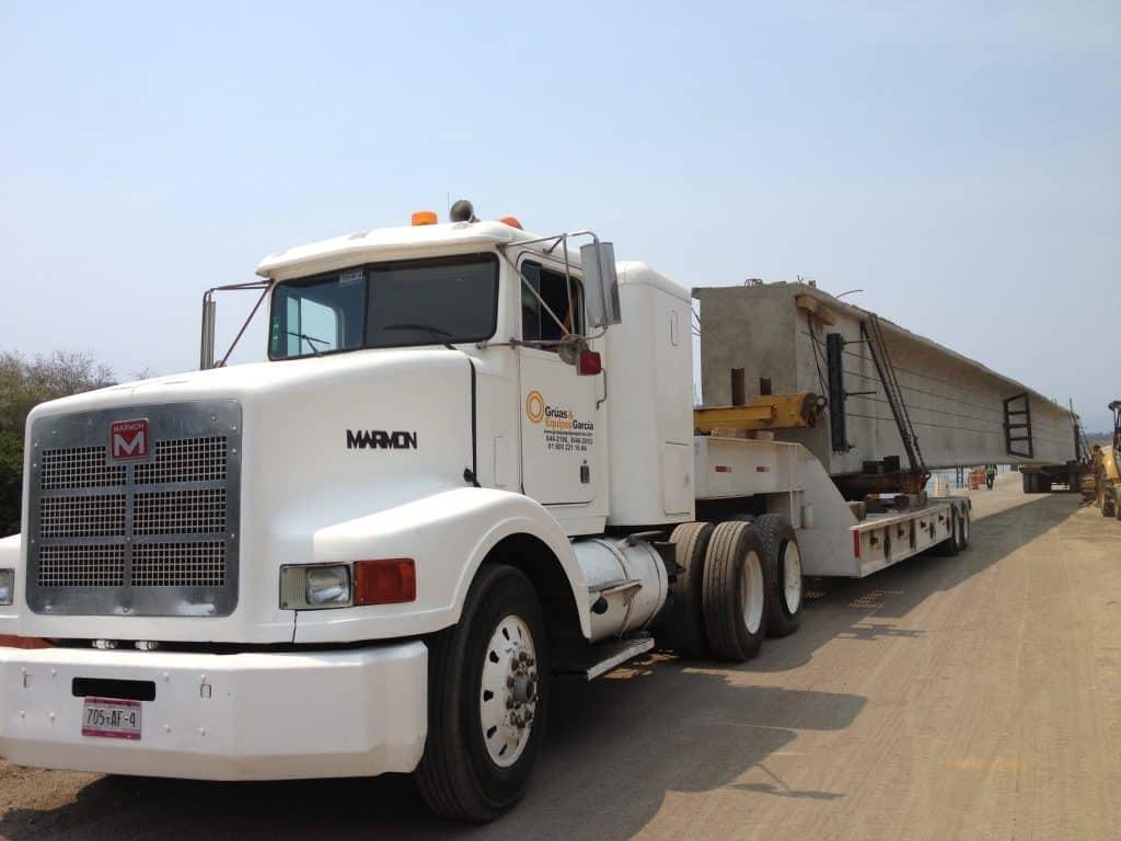 traslado de trabe 160 toneladas