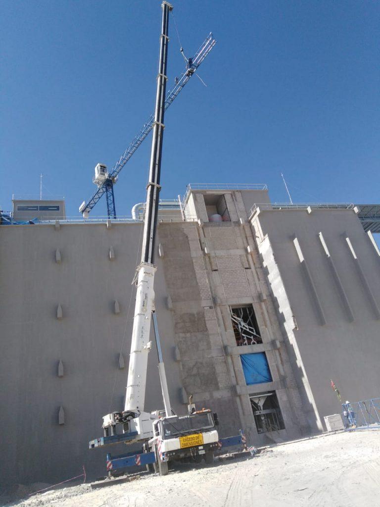 desmontaje de torre grua