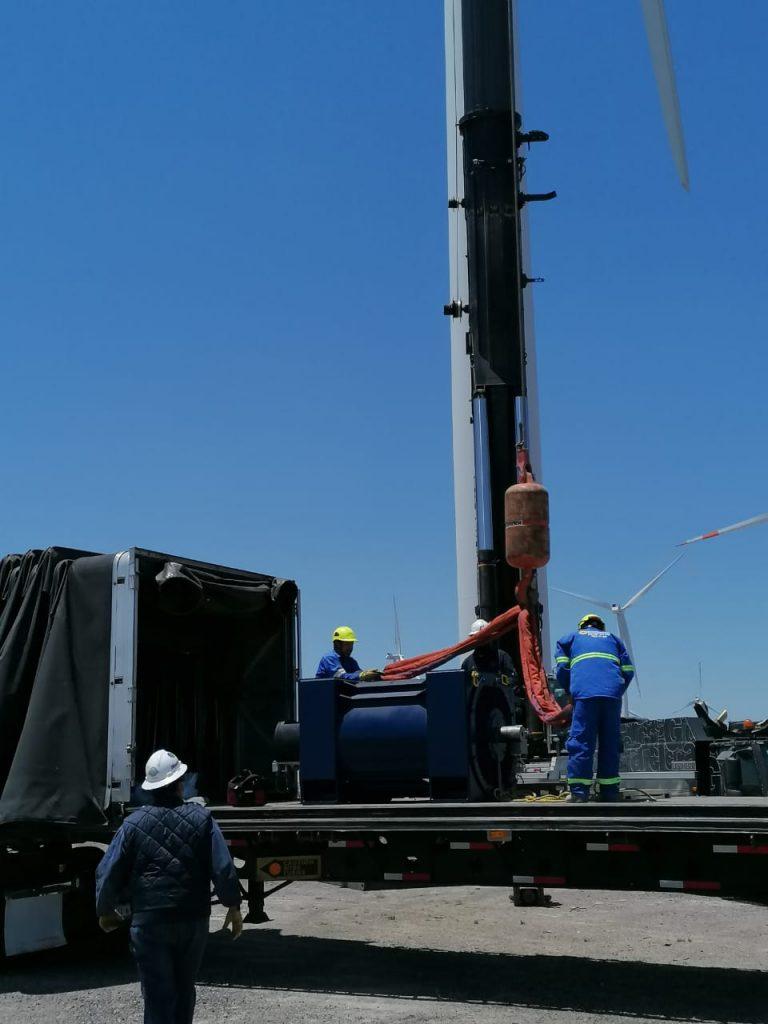 gruas para montaje de aerogeneradores